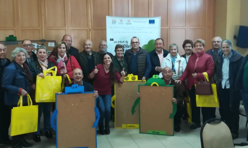 GAIA continúa desarrollando el Programa de Sensibilización Ambiental de Reciclaje para Mayores en el Hogar del Pensionista de Lobón